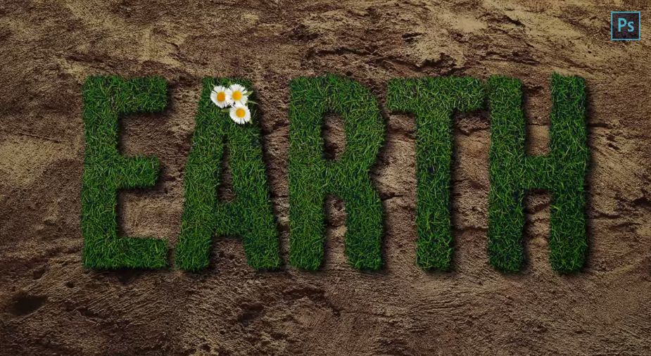 Grass Text Effect Photoshop Tutorial