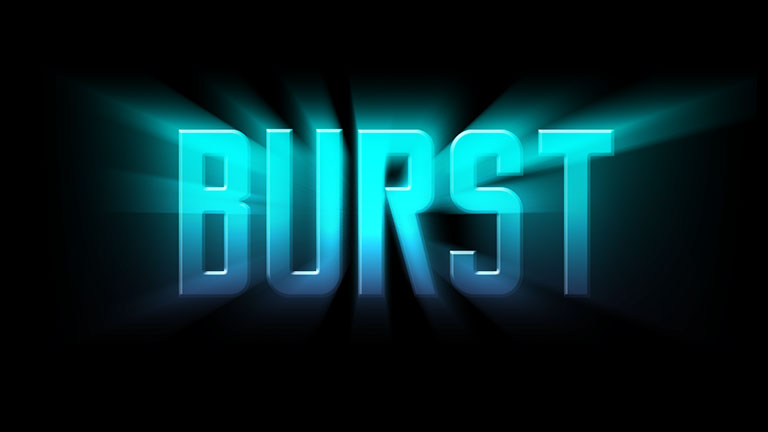 Light-burst-text-effect
