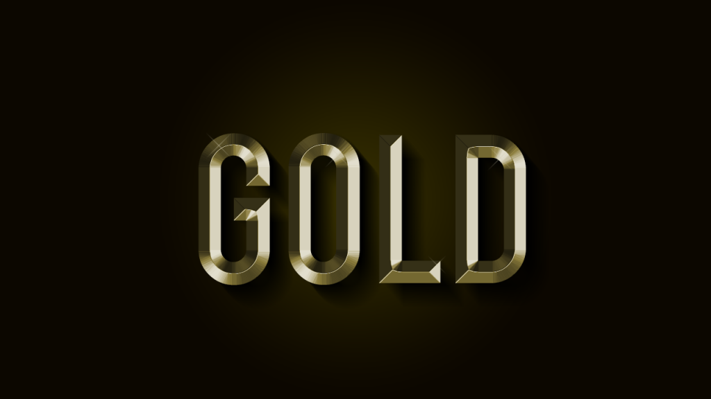 gold font text photoshop