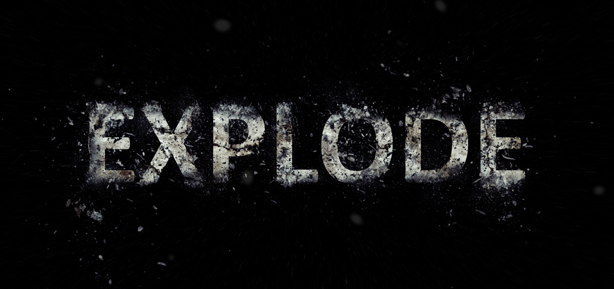 exploding text photoshop tutorial