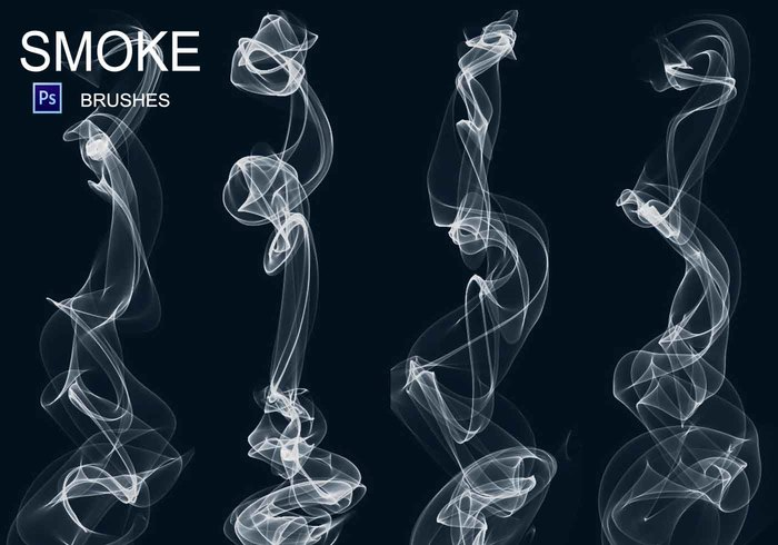 20 smoke photoshop brushes