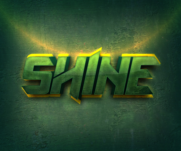 Shiny Text Effect Photoshop