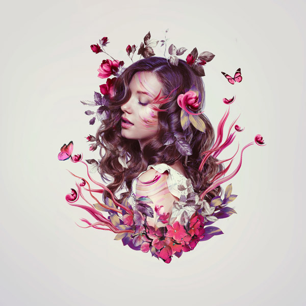 Photoshop floral photo manipulation