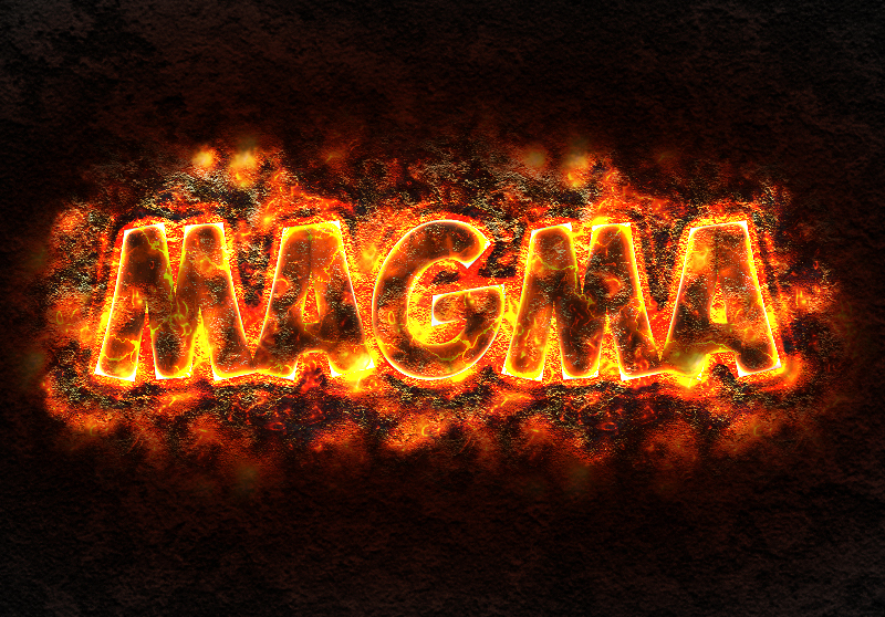 magma lava text effect