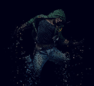 typography dispersion effect