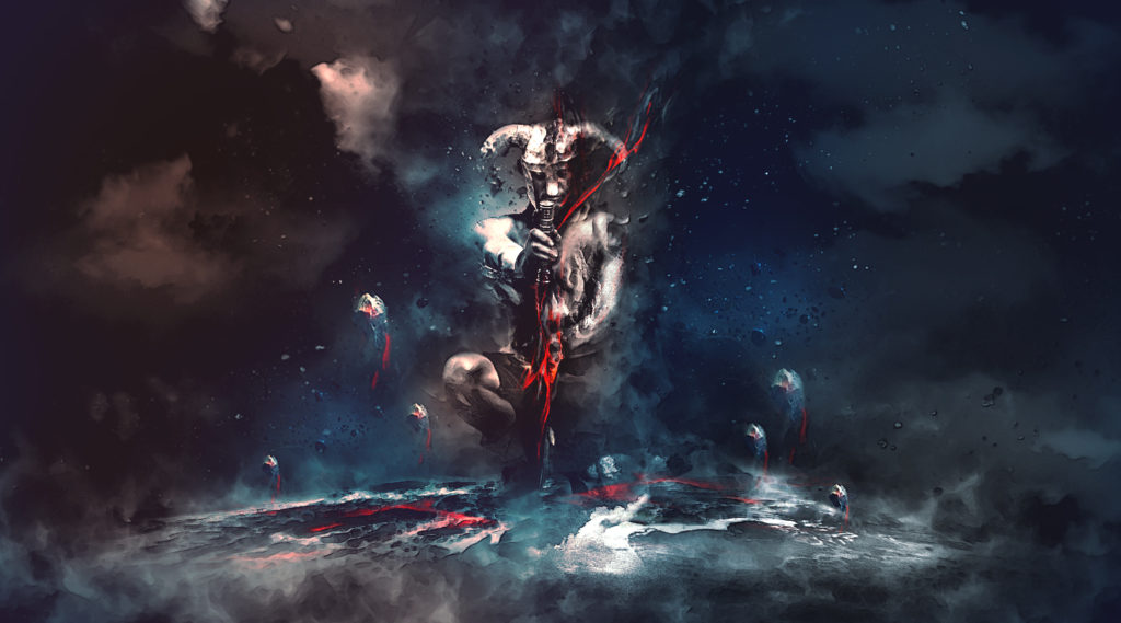 Photoshop Tutorials - Warrior Dark Energy
