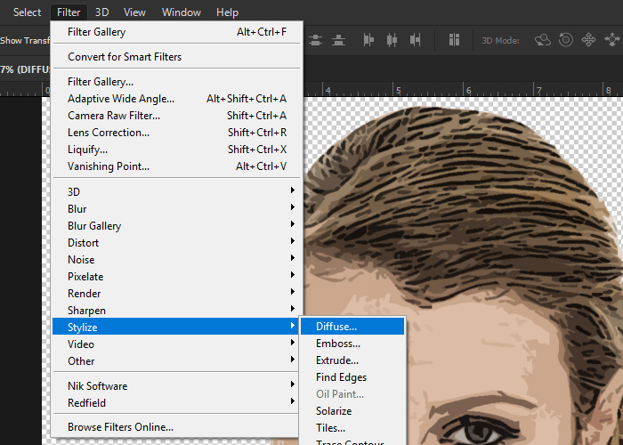 how to use grid in photoshop using filter
