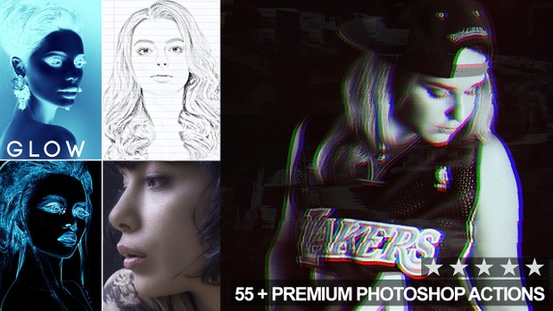 55 Photoshop Actions